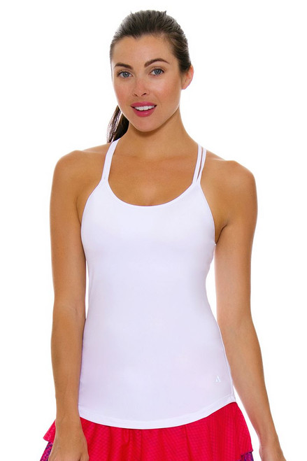 Solfire Women's Speed Double Up White Tennis Tank SF-F5W101-S001 Image 4