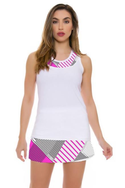 Allie Burke Line Up Pink Printed Tennis Skirt - 3 Lengths AB-BSKT0114-Line Up-025 Image 3