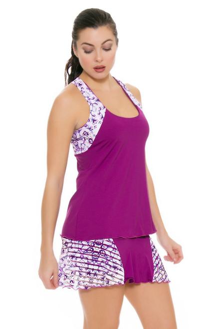 Denise Cronwall Women's Mosaic Violet Grace Tennis Skirt DC-SK-420-MOV Image 4