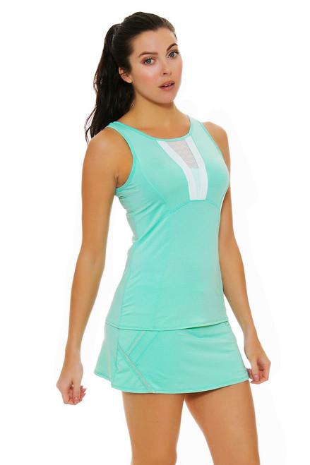 Lucky In Love Women's Desert Shore Zip Line Lagoon Tennis Skirt LIL-CB199-403 Image 4