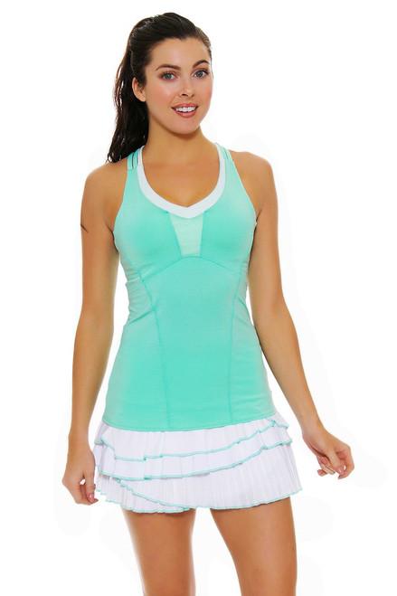 Lucky In Love Women's Desert Shore Rally Pleat Tier White Tennis Skirt LIL-CB215-110 Image 4