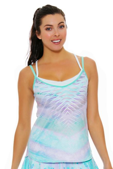 Lucky In Love Women's Desert Shore Vitality Bralette Lagoon Tennis Cami LIL-CT347-258403 Image 4