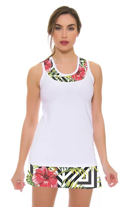 Allie Burke Women's Hibiscus Geo Print Tennis Skirt AB-BSKT01-015 Image 4