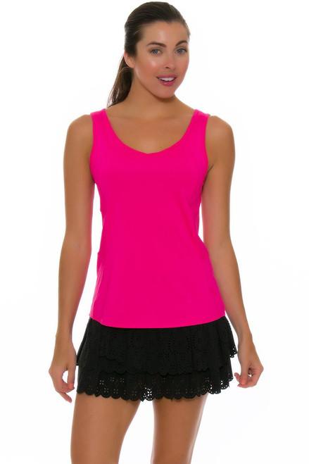 Lucky In Love Women's Laser Cut Core Black Tennis Skirt LIL-CB188-195001 Image 4