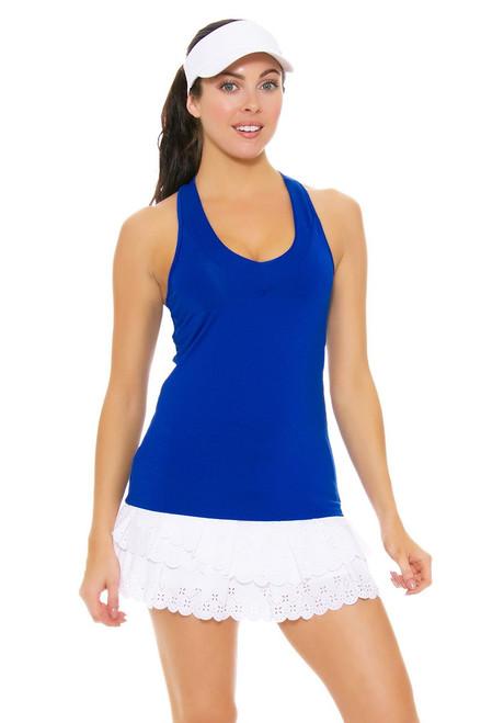 Lucky In Love Women's Laser Cut Core White Tennis Skirt LIL-CB188-195110 Image 4
