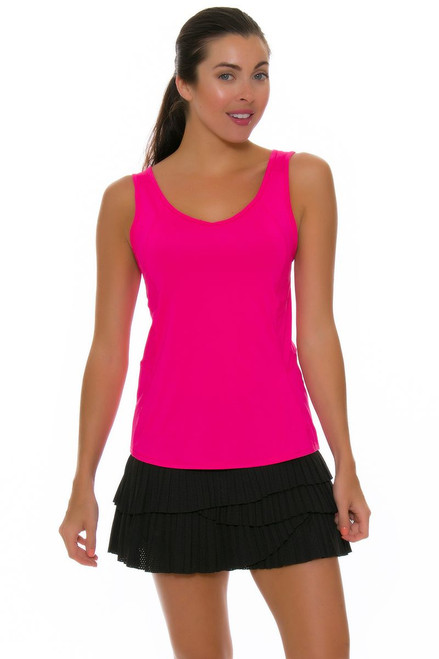 Lucky In Love Women's Core Bottoms Pleat Scallop Black Tennis Skirt LIL-CB163-001 Image 4