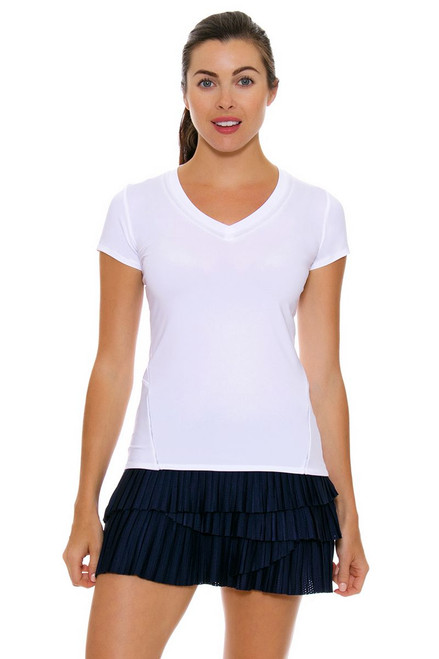 Lucky In Love Women's Core Bottoms Pleat Scallop Navy Tennis Skirt LIL-CB163-401 Image 4