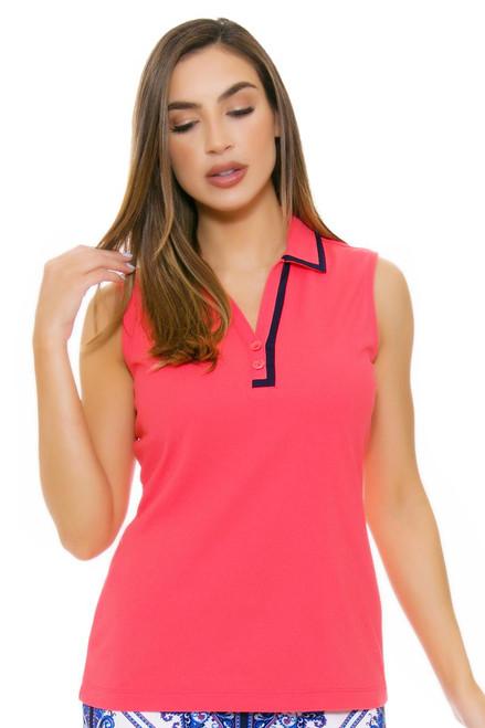 EP Pro NY Women's Beyond Blue Y-Neck Golf Sleeveless Polo EPNY-5116NAA Image 4
