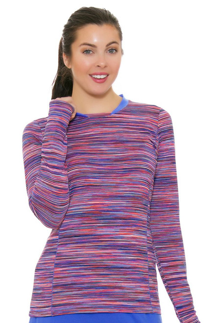 EP Pro NY Women's Beyond Blue Space Dye Golf Long Sleeve Shirt EPNY-5111NAA Image 4