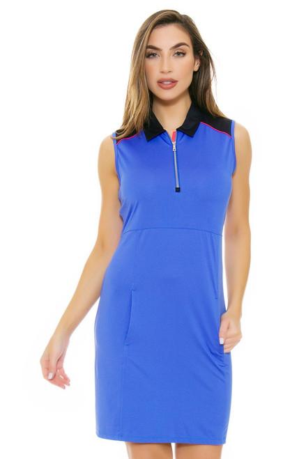EP Pro NY Women's Beyond Blue Contrast Blocked Golf Dress EPNY-0110NAA Image 4