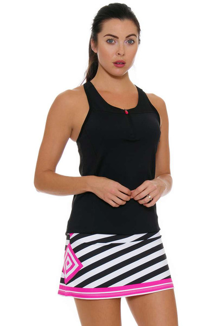 Allie Burke Women's Stripe Pink Geo Tennis Skirt AB-BSKT01-031