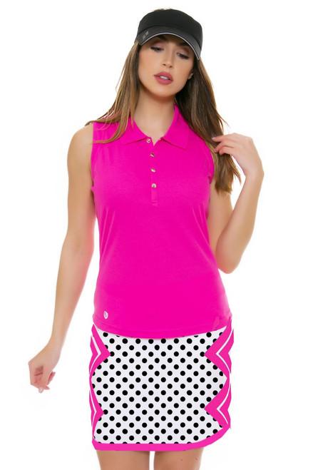 Allie Burke Polka Pink Geo Print Pull On Golf Skort