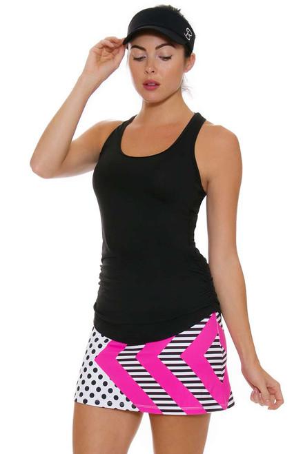 Allie Burke Women's Polka Pink Geo Stripe Skirt AB-BSKT01-0291