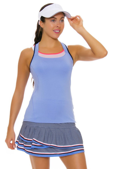 Lucky In Love Women's Vantage Long Courtship Tier Navy Tennis Skirt LIL-CB202-219401 Image 4
