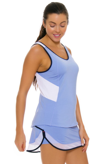 Lucky In Love Women's Vantage Mesh Border Ice Tennis Skirt LIL-CB207-417 Image 4