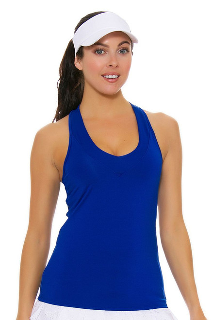 Lucky In Love Core V-Neck Sapphire Tank with Built-in Bra LIL-CT60-405 Image 4