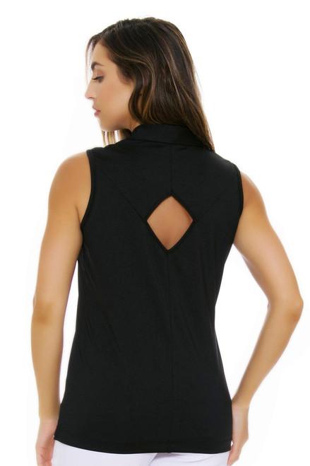 EP Pro NY Women's Poppy Fields Picot Trim Golf Sleeveless Shirt EPNY-5161NAB Image 4