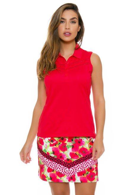 EP Pro NY Women's Poppy Fields Bouquet Print Golf Skort EPNY-1122NAB Image 4