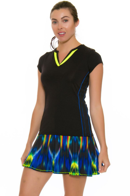 Lucky In Love Women's Technicolor Gore Long Tennis Skirt