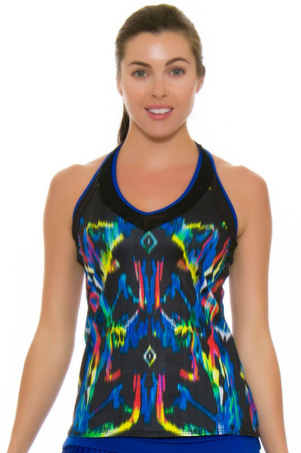 Lucky In Love Women's Technicolor V-Neck Tennis Tank