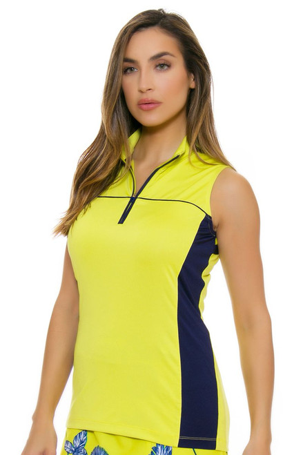 EP Pro NY Women's Palmetto Contrast Blocking Golf Sleeveless Shirt EPNY-5171NAC Image 4