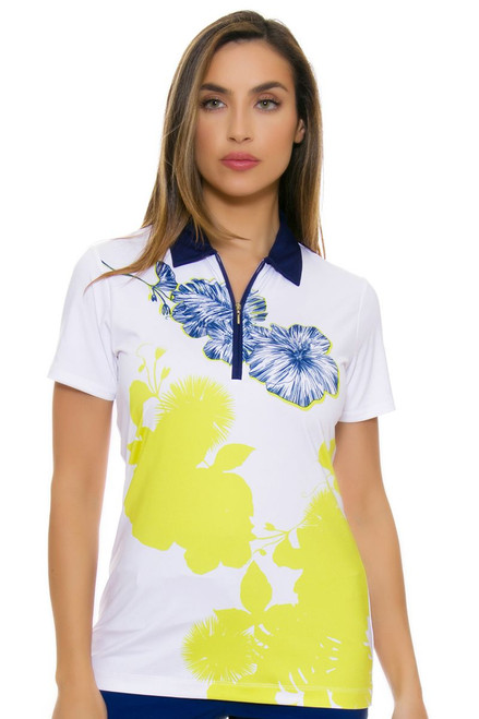 EP Pro NY Women's Palmetto Placed Print Golf Short Sleeve Polo EPNY-5135NAC Image 4