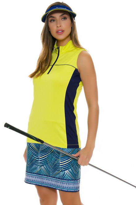 EP Pro NY Women's Palmetto Tropical Palm Print Pull On Golf Skort