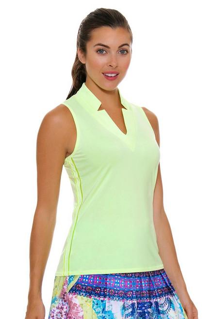Lucky In Love Women's Festival Chi Chi Lemon Frost Golf Sleeveless Shirt LIL-GT08-718 Image 4