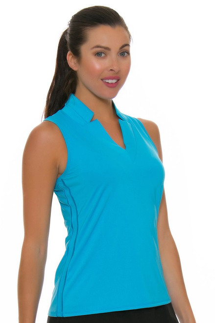 Lucky In Love Women's Divine Chi Chi Ocean Golf Sleeveless Shirt LIL-GT08-410 Image 4