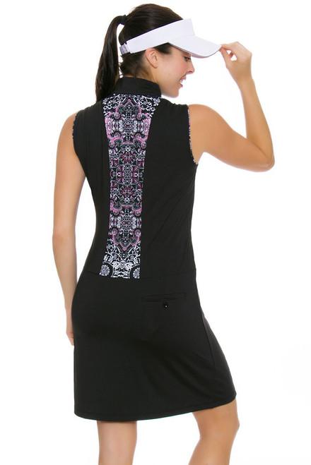 EP Pro NY Women's Marbella Print Blocked Golf Dress EPNY-0140NAD Image 4