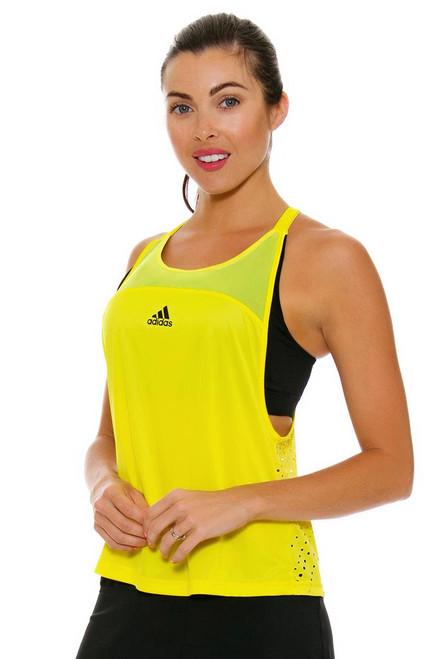 Adidas Women's US Open Halter Back Yellow Tennis Tank A-CF1146 Image 4