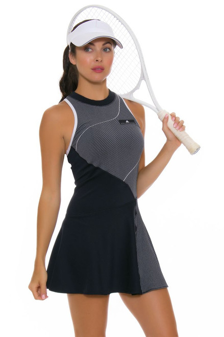 Stella McCartney Navy Color Blocked Tennis Dress SMC-BQ7013 Image 4