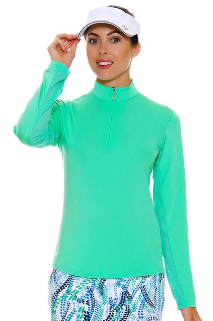 SanSoleil Women's UPF SunGlow Spring Green Long Sleeve SANS-900434-SPGRE Image 4