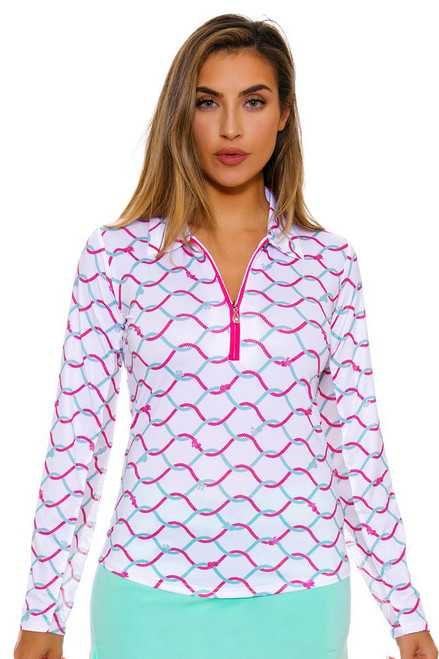 SanSoleil Women's UPF SolCool What Knot Pink Sun Shirt SANS-900462-WKPI Image 4