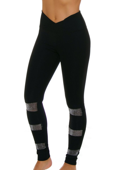 Electric Yoga Women's 3 Way Glitter Workout Legging EY-801504 Image 4