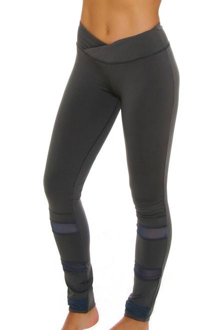 Electric Yoga Women's Slim Waist with Mesh Workout Legging EY-302520 Image 4