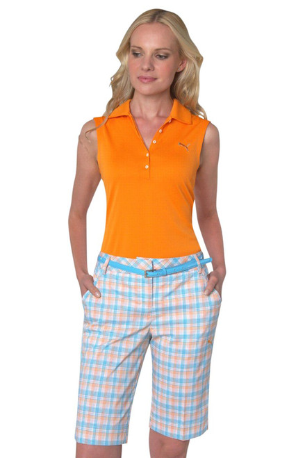 Golf Plaid Tech Shorts - Orange Popsicle PU-563499-Orange Popsicle Image 1