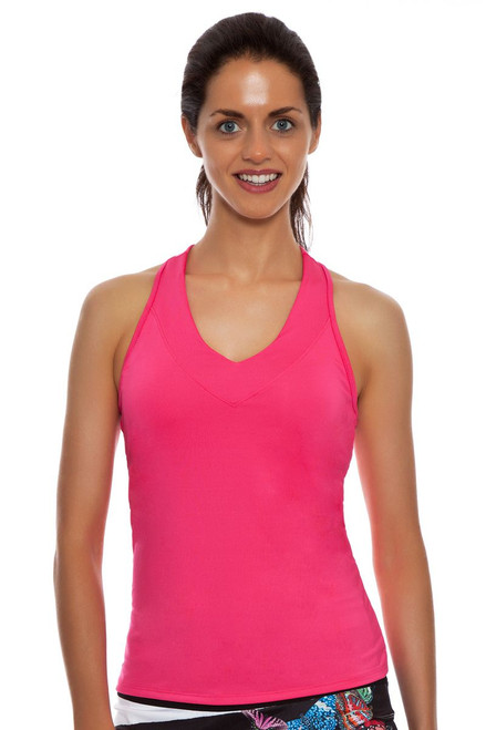 Lucky in Love Core Pinkberry V-Neck Tennis Tank LIL-CT60-649-Pinkberry Image 1