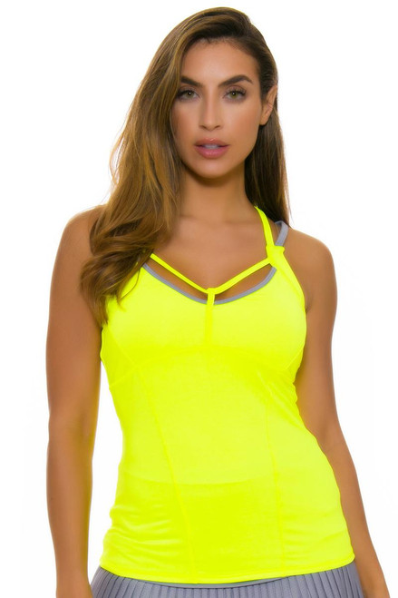 Lucky In Love Women's Love Not War Strapped Tennis Cami LIL-CT363-710 Image 2