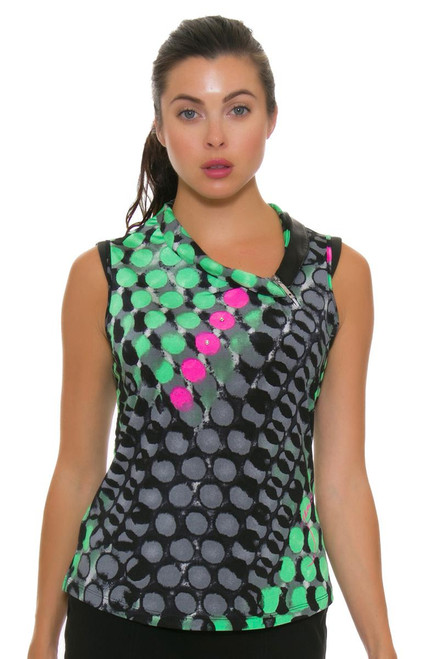 Jamie Sadock Women's Emerald Asymmetrical Neck Golf Sleeveless JS-72228-221 Image 2