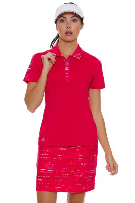 Adidas Women's Energy Pink Ultimate Adistar Printed Golf Skort