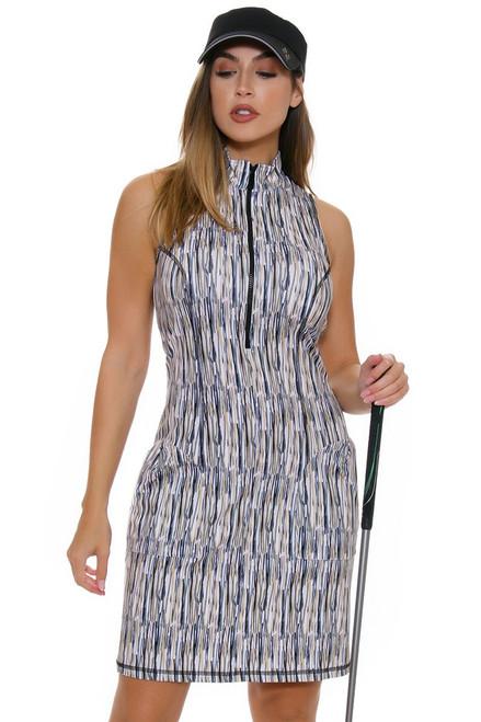 Kevan Hall Sport Women's Savvy Mock Zip Scuba Golf Dress