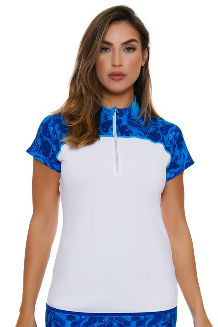 Annika Women's Warrior Treya Golf Short Sleeve Polo AK-LAK06406 Image 1