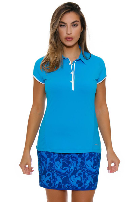 Annika Women's Warrior Hemisphere Cap Sleeve Competitor Golf Polo AK-LAK06389-Warrior-Hemisphere