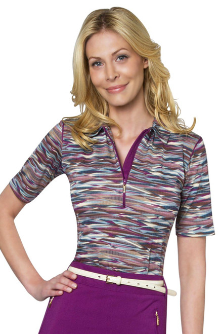Wave Elbow Length Polo SH-WF12405 Image 1