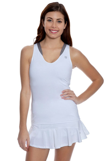 Solid Jamming Flounce Tennis Skirt E-CO276S-Grey Image 2