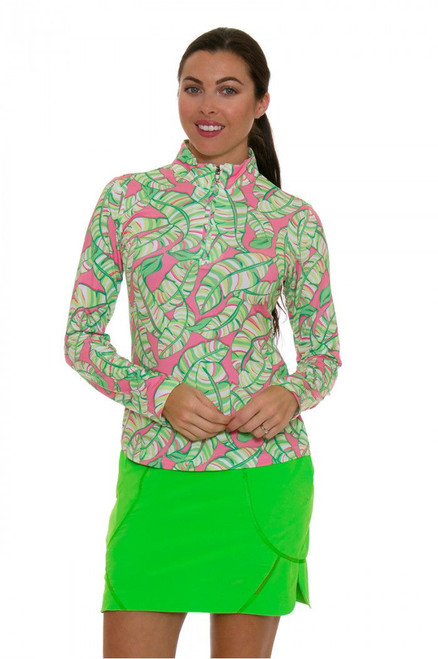 EP Sport Womens Coachella Green Indie Pull On Golf Skort ES-3101SGA-Outta Lime Image 2