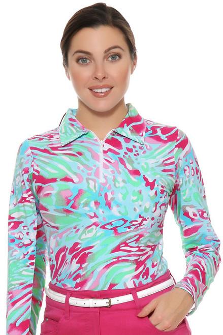 Icikuls Women's  Summer Skin Print Sun Shirt