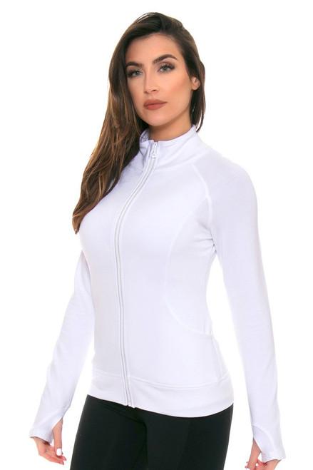 White Escentia Jacket TA-SB4058-Tennis Wht Image 2