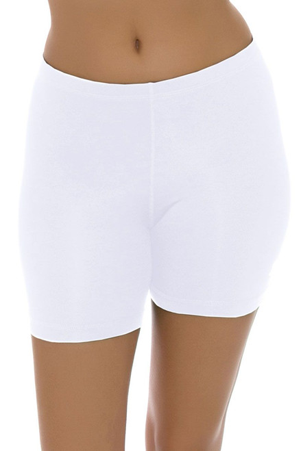 "Sofibella Women's Basic White Shortie 5"" Inseam SFB-1645-White Image 2"